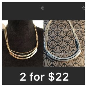 Jewelry - Gold&Black & Silver Necklaces***Reduced**2 for $22